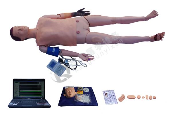 高级全功能急救训练模拟人(心肺复苏,四肢创伤,血压测量功能)